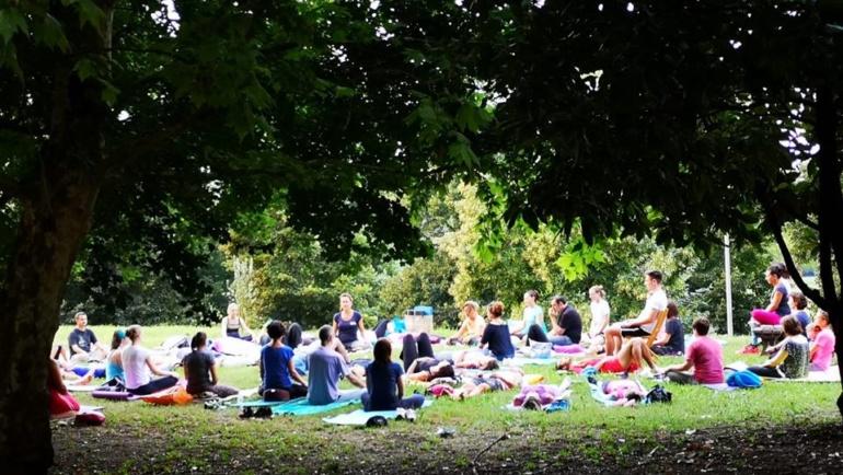 Meditazione al parco del Cormor