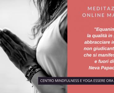 Un brano  di Neva Papachristou per la meditazione online del mattino